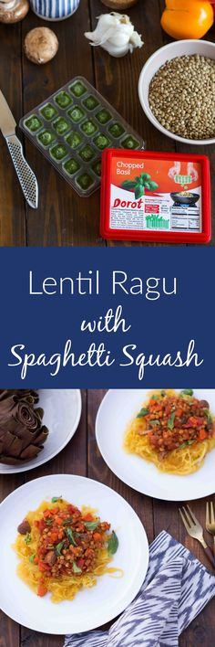 Lentil Ragu with Spaghetti Squash is the ultimate in healthy vegan comfort food. It's packed with fresh, clean fall flavors that won't disappoint! Made with the help of @MyDorot chopped herbs, and now you can save on their products with THIS coupon!----> https://ooh.li/da6c742 #MyDorot #ElevateYourPlate #ad