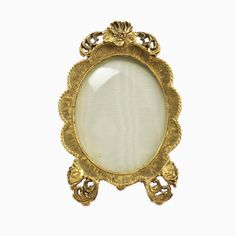 $60.00   Vintage Matson Floral Poppy Gilt Footed Picture Frame with Original Convex Glass