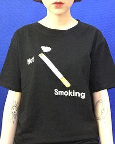 PRE-ORDER NOT SMOKING TEE http://shop.inu-inu.co/NotSmokingTee #guroguro #shopguroguro #trash #inuinu #smoking