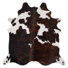 Real Cowhide Rug Tricolor & White - x x - Tricolor), Black White Area Rug, Blue Area Rugs, Cow Hide Rug, Vintage Country, Indoor Rugs, Online Home Decor Stores, Leather Fashion, Colorful Rugs, Rug Size