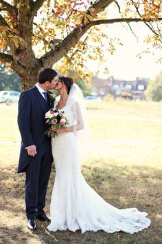 Love this photo by ~ so romantic and classic. Exquisite vintage inspired lace wedding dress