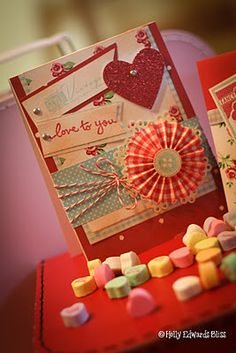 Layer cute and colourful elements for a Valentine's card your loved one will adore.