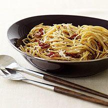 Whole Wheat Spaghetti Carbonara: 6 PointsPlus per serving (5 servings)