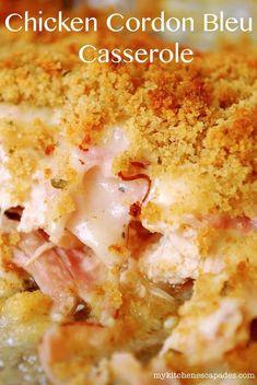 Chicken Cordon Bleu Casserole   Made From Pinterest crockpot recipes, slow cooker recipes #recipe #slowcooker #crockpot