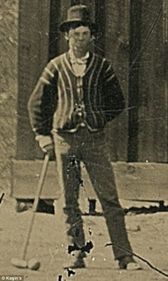Billy the Kid: Incredible 67¢ junk shop photo shows America's most famous outlaw playing CROQUET with his Regulators gang... and it's now worth $5MILLION