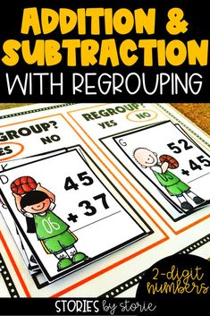 Students can practice adding and subtracting within 100 with this basketball themed pack. Students can sort the cards based on whether regrouping is needed to solve the problem. Then students can solve each problem on the included worksheet.