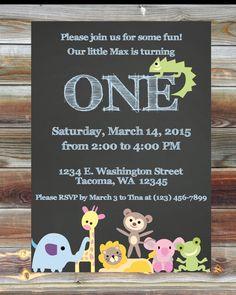 Puppy dog first birthday invitation digital file made by me jungle theme first birthday invitation custom printable party animal theme boy girl birthday invite jungle theme safari birthday party filmwisefo