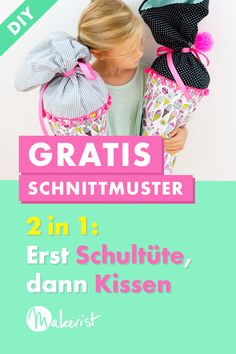 Kostenloses Schnitmuster für eine Schultüte + Kissen Sew a very special school bag for a very special day! With this 2 in 1 school bag the enrollment remains in memory. You can transform it into a cuddly pillow after the… Continue reading → Sewing Patterns Free, Free Sewing, Free Pattern, Sewing Projects For Beginners, Knitting For Beginners, Good Day Sunshine, Maila, Diy Pillows, Easy Knitting