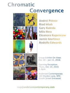 """Rodolfo Edwards. """"Chromatic Convergence"""" Group show at Anderson Contemporary gallery, Dec 10, 2015 -Jan 11, 2016"""