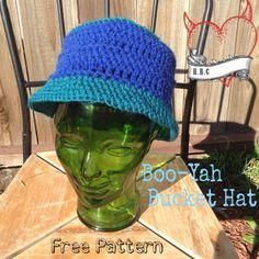RaisingRobertsons: Boo-Yah Bucket Hat - free crochet pattern by Manda Robertson.