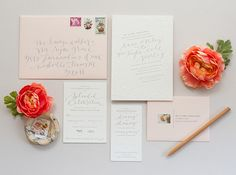 Athena Bludé Photography | Stationery Design + Styling: Coral Pheasant | Calligraphy: Brown Linen Design