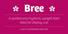 Bree | Possible font choice