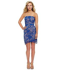 Jodi Kristopher Strapless Lace Dress #Dillards