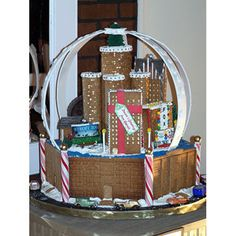 Downtown Detroit  Every year proud gingerbread construction workers descend on Asheville, North Carolina, to attend the annual Grove Park Inn National Gingerbread House Competition. In 2006, one of the entrants impressed visitors with this version of the Detroit skyline nestled inside a snow globe. delish.com