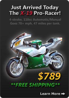 Pocket Bikes – Get great deal for pocket bike, mini bike & pocket bikes parts at best pocket bikes online. Free shipping on mini bike & pocket bikes parts. 1-888-720-BIKE.