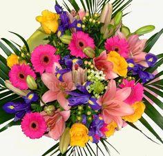 Ramo de flores fiesta. Un bonito detalle para el #DíadelosAbuelos
