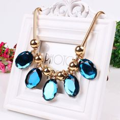 Fashion Individuality Necklace Alloy and Glass Drill Necklace Jewelry Gift Clothing Decor