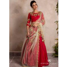Best range of latest indian designer sarees collection for wedding and parties. Grab the fancy fabric maroon classic saree. Indian Designer Sarees, Latest Designer Sarees, Designer Sarees Collection, Saree Collection, Lehenga Choli, Sari, Anarkali, Sharara, Indian Dresses