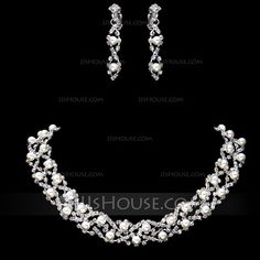 Jewelry - $11.69 - Gorgeous Alloy/Rhinestones With Pearl Women's Jewelry Sets (011017853) http://jjshouse.com/Gorgeous-Alloy-Rhinestones-With-Pearl-Women-S-Jewelry-Sets-011017853-g17853