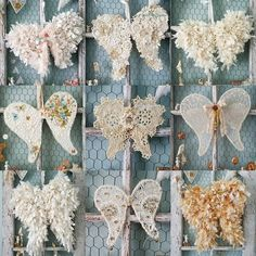 shabby chic ruffle lace gem wings My Wings One DayToile Vintage Studio Maison Du Monde Toilet Not FlushingMake your own angel wings!I've never seen such wings Christmas Angels, Christmas Crafts, Christmas Decorations, Christmas Ornaments, Diy Angel Wings, Diy Wings, Diy Angels, Hello December, Angel Crafts
