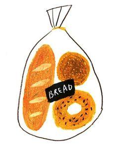 53 Ideas for bread illustration design art Art And Illustration, Illustration Inspiration, Illustrations And Posters, Ideas Scrapbook, No Bad Days, Food Drawing, Grafik Design, A 17, Art Inspo