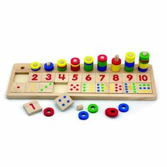 Viga - Wooden Count and Match Numbers - Montessori inspired yet again #EntropyWishList #PinToWin