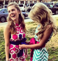 real friends help each other out with with there lilly dress