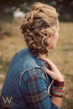 Naturally - messy french braid