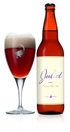 Cerveja Goose Island Juliet, estilo Saison / Farmhouse, produzida por Goose Island Brewery, Estados Unidos. 8% ABV de álcool.