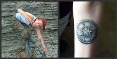 Tattoo with Latvian mythological symbols.