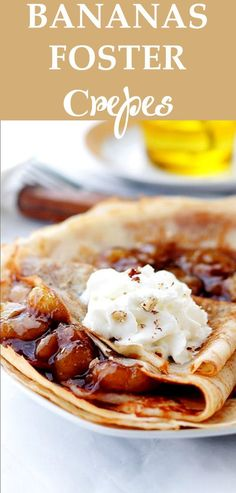 Bananas Foster Crepes - Such a decadent combination! So good you'll want to just eat them all!!