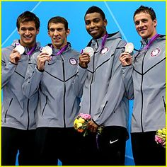 The U.S. Men's Swimming Team – Nathan Adrian, Michael Phelps, Cullen Jones, Ryan Lochte