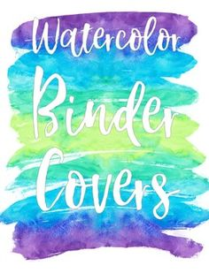 binder covers premade editable coordinating colors and binder