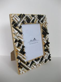 golf tee photo frame- cute for father's day :)