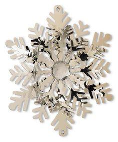 K&K Interiors Flat Center Rhinestone Snowflake Ornament | zulily