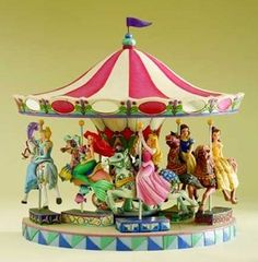 Jim shore disney princess carousel christening gift new