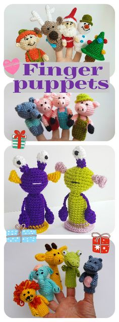 There are handmade finger puppets for kids. There are adorable set of Christmas…