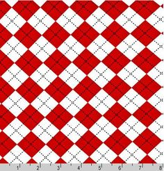 Red Argyle AAK103923 from the Remix Collection By by hootcouture