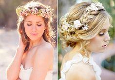 Os mais lindos Penteados para Noivas 2015: Coques, tranças, semi-preso, penteados românticos com cachos para cabelos curtos e longos.