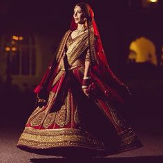 Sabyasachi Bride... Traditional red. I LOVE this.