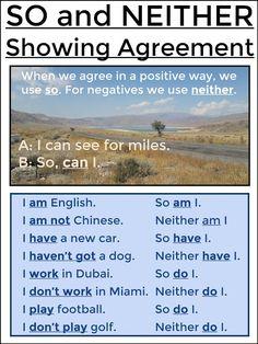 #tefl #tesol #grammar #learnenglish #elt AskPaulEnglish: SO/NEITHER (Present)