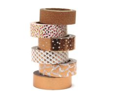 Copper Washi Tape Set Metallic Foil Rose Gold Butterfly Polka Dots Glitter by Hobbyhoppers on Etsy Scrapbook Supplies, Craft Supplies, School Supplies, Tapas, Play Doh Fun, Gold Washi Tape, Stationary Supplies, Cute Stationery, Duck Tape