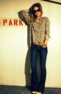 easy leopard top. Love this outfit. |Pinned from PinTo for iPad|