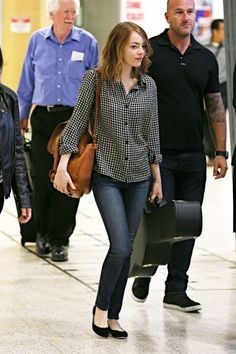 her style is casual but seems perfect