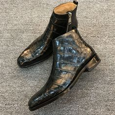 Casual Alligator Boots, Genuine Alligator Boots for Men Mens Shoes Boots, Men's Boots, Leather Boots, Shoe Boots, Alligator Boots, Crocodile Boots, Gentleman Shoes, Custom Design Shoes, Mens Gear