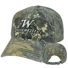 2b340b12788 Winchester Ammunition Gun Rifle Mossy Oak Faded Camo Camouflage Relaxed Hat  Cap by West Coast.