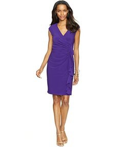 American Living Cap-Sleeve Ruffled Dress, the pink not the purple!