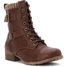 Jellypop Women's Len Combat Boot Boots ($73) ❤ liked on Polyvore featuring shoes, boots, shoes/boots, distress brown, military boots, zipper boots, combat boots, lined boots and brown military boots