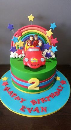 Wiggles Wiggles Birthday, Wiggles Party, 2 Birthday Cake, 3rd Birthday Parties, 1st Birthday Girls, Wiggles Cake, Second Birthday Ideas, Party Cakes, First Birthdays
