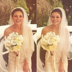 """Notoriously private Mila Kunis posted these photos of herself in her wedding dress from her July 5, 2015, marriage to Ashton Kutcher, with this sweet caption: """"When I was young, I met the love of my life. It's been 16 years since we first met on the set of That '70s Show, and the funny thing is that i never even imagine that my lover at the show will be my lover in real life. Well... god has his ways."""""""